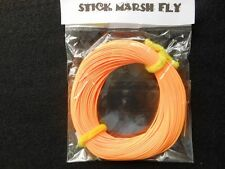 STICK MARSH FLY LINE WF-5-F  WITH EXPOSED LOOP ON LEADER END --ORANGE