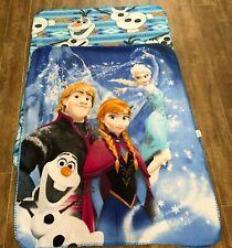 Disney Frozen lot 2 throw blanket 38 x 48 fleece child size olaf anna elsa
