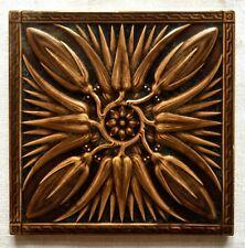 Antique MINTON HOLLINS & CO. Molded Majolica Tile England Art Nouveau Victorian