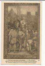 France - Paris, Pantheon - E. Delaunay, Parisiens arretes dans... - Art Postcard