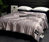 100% Ice Silk Comforter Duvet Quilt Air-conditioned Blanket Queen Size 5 Colors