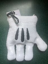 Disney Mickey Mouse Plush Sequin Glove Mitt Coin Purse Backpack Clip