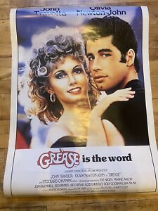 Rare Original 1978 GREASE Movie Poster, ROLLED, 30x40, Deadstock