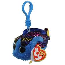 TY Beanie Boos - AQUA the Fish (Glitter Eyes) (Key Clip - 3 inch) -MWMTs Boo Toy