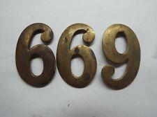 """3-Civil War 2"""" Brass 6s Or 9s Badge Make 69Th"""