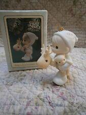 Precious Moments Ornament Babys 1st First Christmas Boy/Deer/Bear 1994 Mib