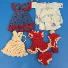 "Fits 8"" Dolls Betsy McCall Etc.Crochet Skating 3p 1 White 1 Blue Dress 3p PJ'S"