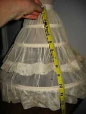 ANTIQUE HOOP CRINOLINE petticoat shaping skirt for French German fashion doll