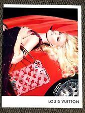 Vintage Original Vogue Magazine Louis Vuitton Claudia Schiffer 2008 Art Advert