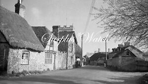 B/W Negative St Mary Bourne Hampshire Village Scene 1940s + Copyright W483