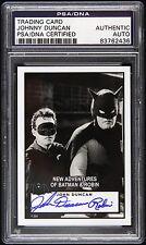 1949 Batman & Robin Johnny Duncan Signed Card (PSA/DNA Slabbed)