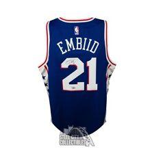 Joel Embiid Autographed 76ers Blue Nike Basketball Jersey - Fanatics