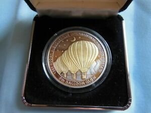 1995 KAIBF Balloon Glow Commemorative Coin 24kt Highlighting!