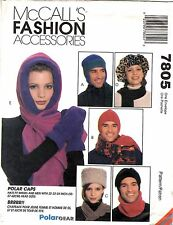 McCall's Pattern Men's & Women's Winter HATS GLOVES ACCESSORIES 7805 S-M-L UNCUT