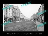 OLD LARGE HISTORIC PHOTO OF MULLINGAR IRELAND, GREVILLE ST & STORES c1900 2