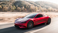 "2020 Tesla Roadster Auto Car Art Silk Wall Poster 24x36"""
