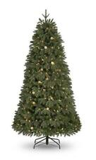 7ft Pre-Lit (530 W/White LED's & Globes) Noble Fir PE/PVC Christmas Tree