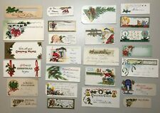 Large Group Antique Vintage Christmas Gift Present Tags Nice Graphics Cards