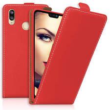 Housse en cuir PU Flipcase pour Huawei P20 Lite (ANE-LX1 / 5.84'') - rouge
