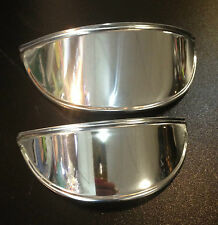 "Head lamp / head light peak 6"" wide for Vespa LML & Lambretta by Cuppini PAIR"