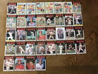 1986 CINCINNATI REDS Topps COMPLETE Baseball Team Set 36 Cards ROSE DAVIS PEREZ!