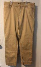 ~NICE~Chaps Women's Pants Size 12P Cropped Khaki Pants