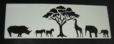 Safari Animal elephant giraffe Cake decorating stencil Airbrush Mylar Film