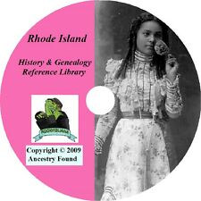 71 old books history genealogy RHODE ISLAND family RI
