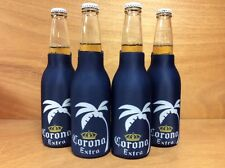 Corona Extra Beer Blue Palm Tree Zip Up Bottle Koozie Coozie - NEW & F/Ship. 4pk