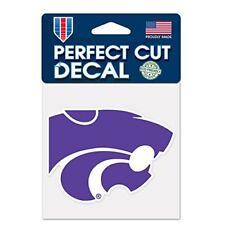 "Kansas State Wildcats 4 x 4"" Logo Truck Car Auto Window Die Cut Decal Team Color"