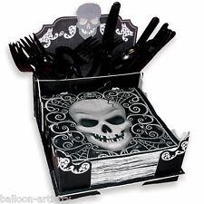 20cm gotico teschio terrore Halloween festa CARD PAPER NAPKIN Cutlery holder box
