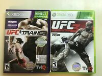 Xbox 360 UFC Lot - UFC Personal Trainer: Ultimate Fitness & UFC 3 - 2 Games