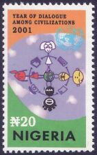 2001 Dialogue among civilizations - Nigeria - isolated stamp