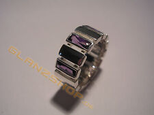 MEXX Damenring Ring violette lila Steine Zirkonia Besatz Gr.18 / 56 / 180 ra NEU