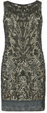 "**SALE** NEW""ALLSAINTS"" GRAY EMBELLISHED ""KHAKI VIPER"" DRESS SIZE ""8"" w TAGS!"