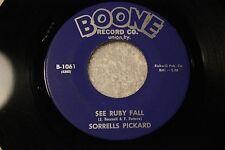 "SORRELLS PICKARD 45rpm VINYL ""See Ruby Falls"" Boone Record Co. UNION, KY"