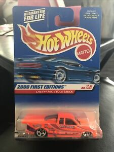 Hot Wheels 2000 First Editions CHEVY PRO STOCK TRUCK #7of38 LOW! $4 SHIPPING!!