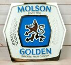 Molson Golden Lion 3-D Bar Sign Wall Bar-ware Mancave 14.5 in x 13.5 in White
