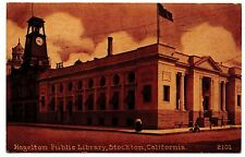Hazelton Public Library Stockton Ca No.2101 Vintage Postcard 1914