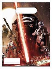Star Wars VII 6 bolsos de fiesta bolsas regalo Cumpleaños