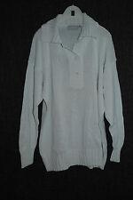 CASSIS | Legerer Pulli Pullover aus Baumwolle | Weiß | 44 46 L XL | Troyerkragen
