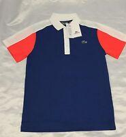 Lacoste Sport Ultra Dry Men's Polo Shirt Top T-Shirt Genuine - RRP £75 - Blue