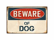 "Beware Of Dog 1 8"" x 12"" Vintage Aluminum Retro Metal Sign VS139"