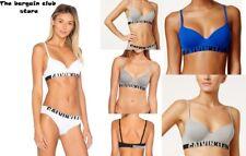 Calvin Klein Womens Seamless Logo Underwire Demi T-shirt Bra Royal Blue 36 a 36a
