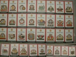 manchester united champions victory pins cards danbury mint 33 pins LOWER price
