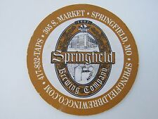 Beer Brewery Coaster ~ SPRINGFIELD Brewing Co Pale Ale, Munich Lager ~ MISSOURI