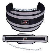 Neoprene Weight Lifting Dip Belt Exercise Belt Fitness Body Building Belt- Grey
