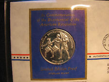 11 Postmasters of America Medallic First Day Cover 1971 with 11 Sterling Silvers