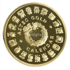HOT Sales The Maya Calendar Aztec Gold Plated Commemorative Collection Coin Gift