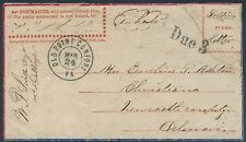 "SOLDIER'S LETTER ON PATRIOTIC COVER ""IN HASTE"" VIA OLD POINT COMFORT, VA BR5209"